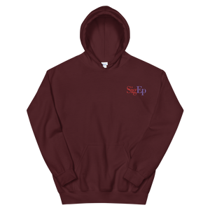 Sigma Phi Epsilon SigEp Logo Embroidered Hoodie (Maroon)