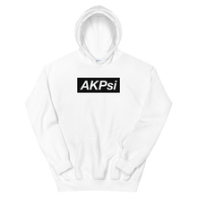 "Load image into Gallery viewer, Alpha Kappa Psi ""AKPsi"" Block Hoodie (White)"