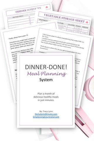 DINNER-DONE! Meal Planning System {eBook + Planner in 1}