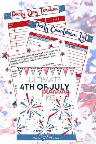 4th of July Planner
