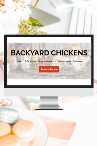DIY Outside Chicken Coop and Run {Video Course}