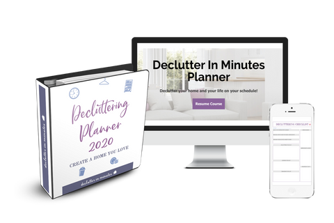 Declutter In Minutes Planner + Cours + Membership Group Trial Offer