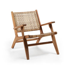 Laden Sie das Bild in den Galerie-Viewer, Loungechair Outdoor Stuhl / Rattan Sessel mit Armlehnen - WUUD