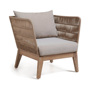 Loungechair Outdoor Stuhl / Rattan Style Sessel - WUUD