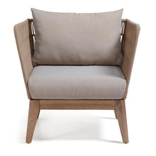 Laden Sie das Bild in den Galerie-Viewer, Loungechair Outdoor Stuhl / Rattan Style Sessel - WUUD