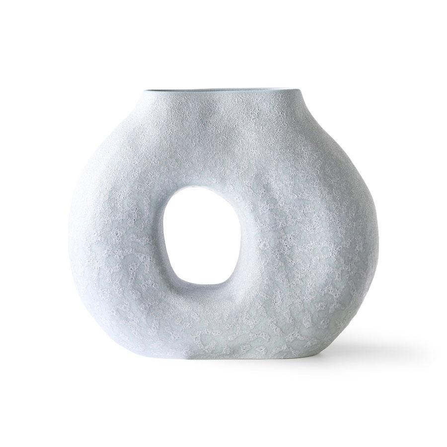 Organic Circle Vase matt Ice Blue / Blumenvase