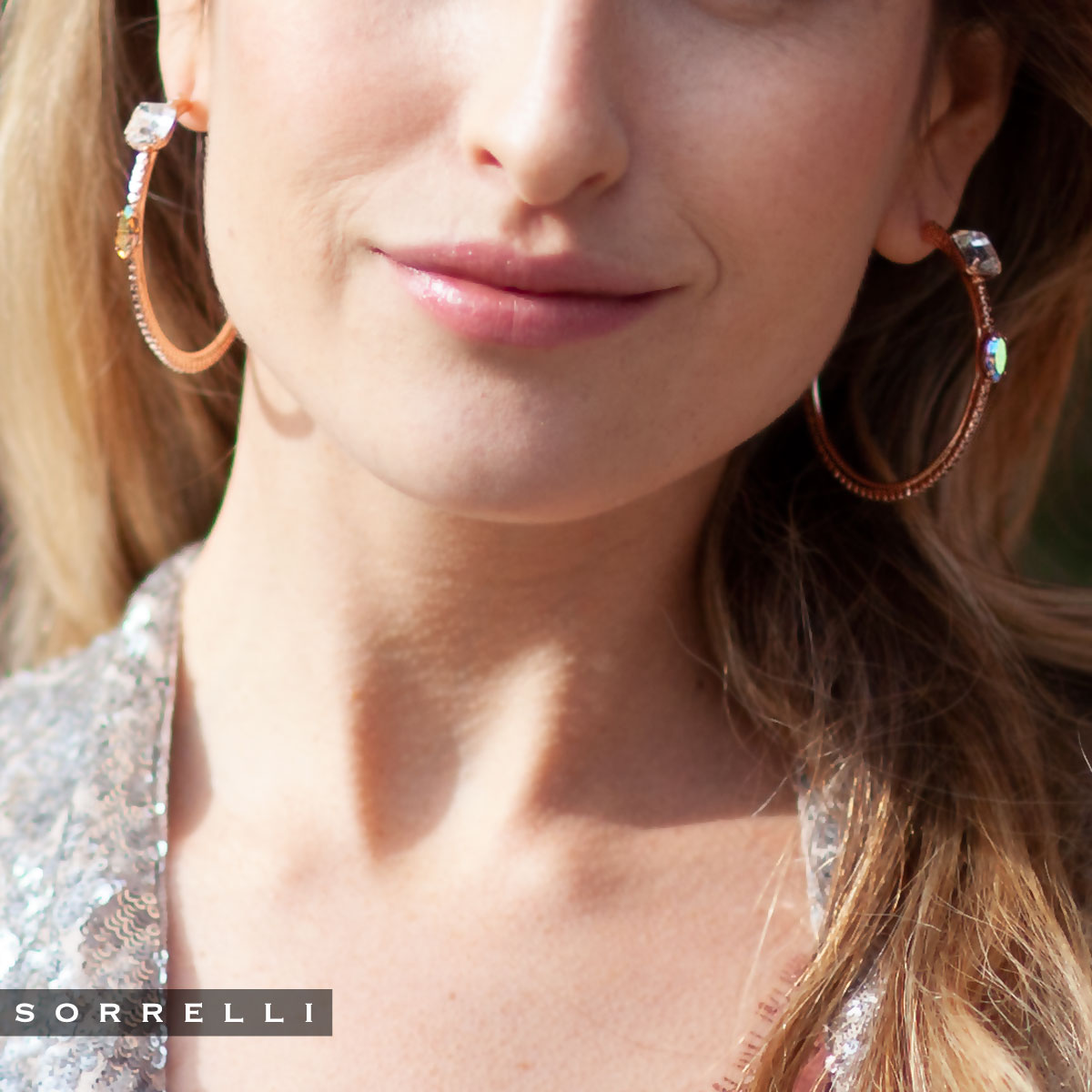 Zoe Hoop Earrings - EEN31RGROG
