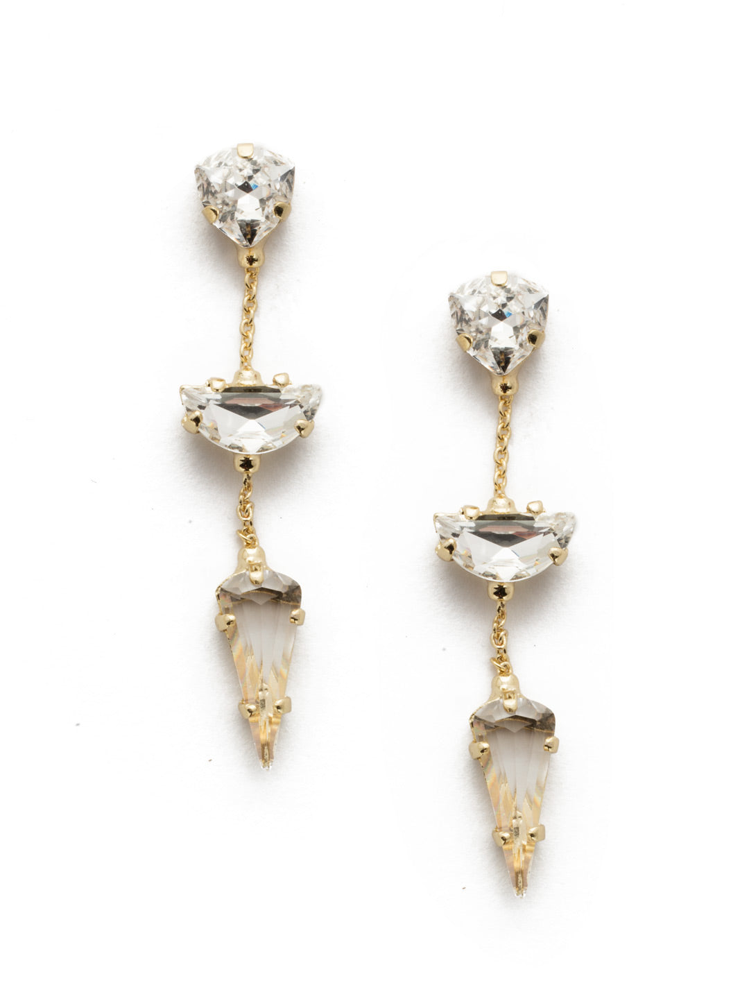 Arielle Crystal Dangle Earrings - 4EEK13BGCRY