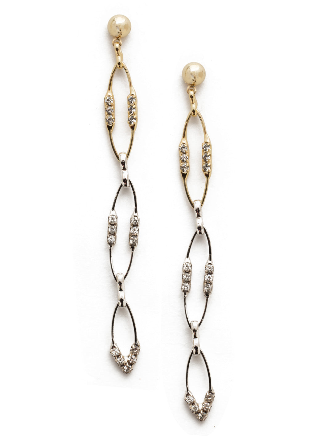 Iliana Elipse Crystal Dangle Earrings - 4EEK25MXCRY