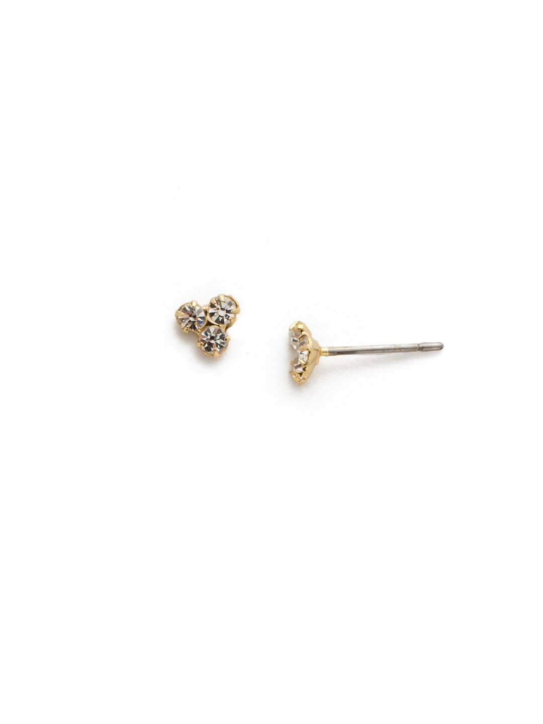 Halia Trinity Crystal Stud Earrings - 4EEK27BGCRY