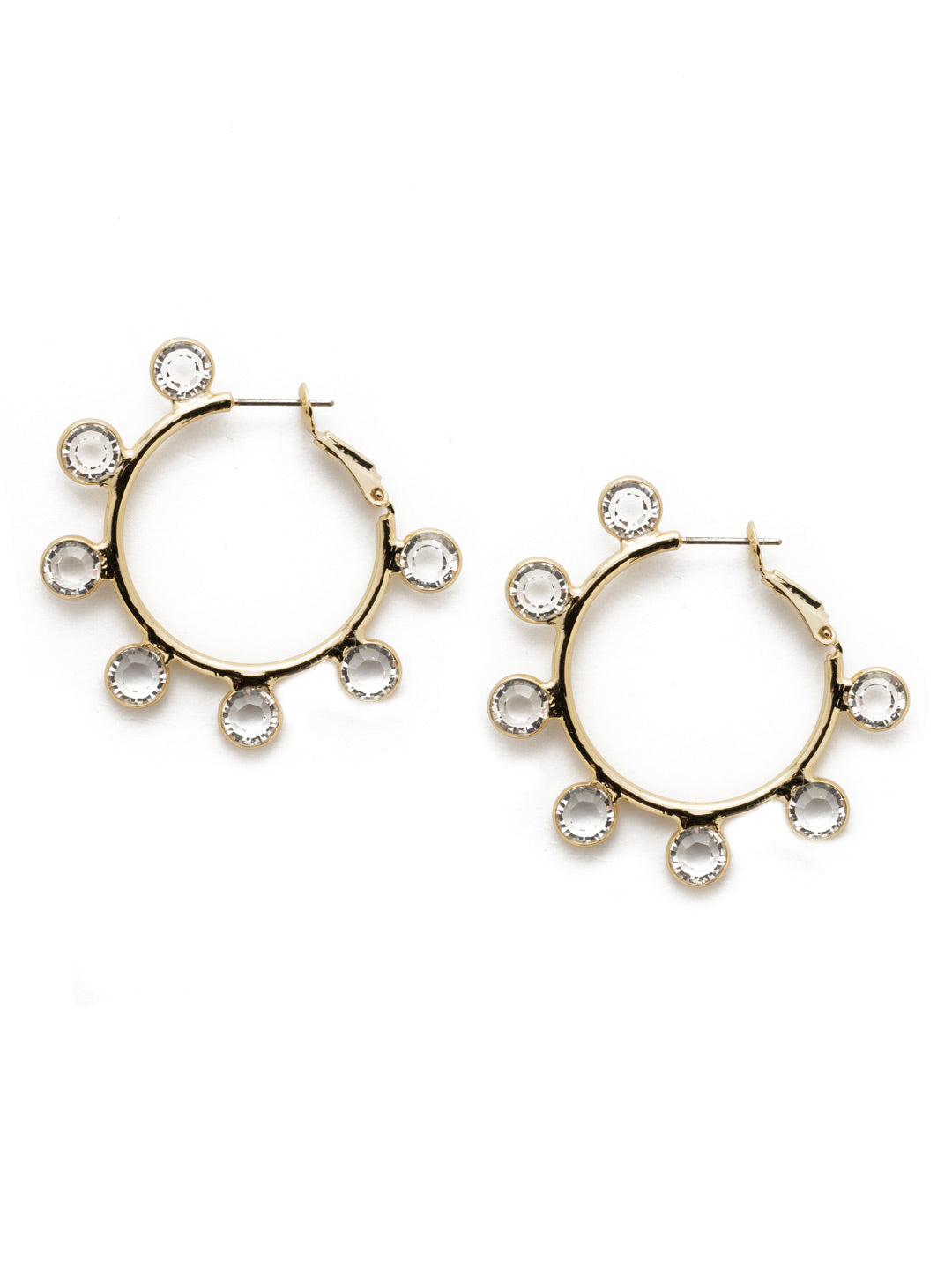 Esmerelda Crystal Hoop Earrings - 4EEK31BGCRY