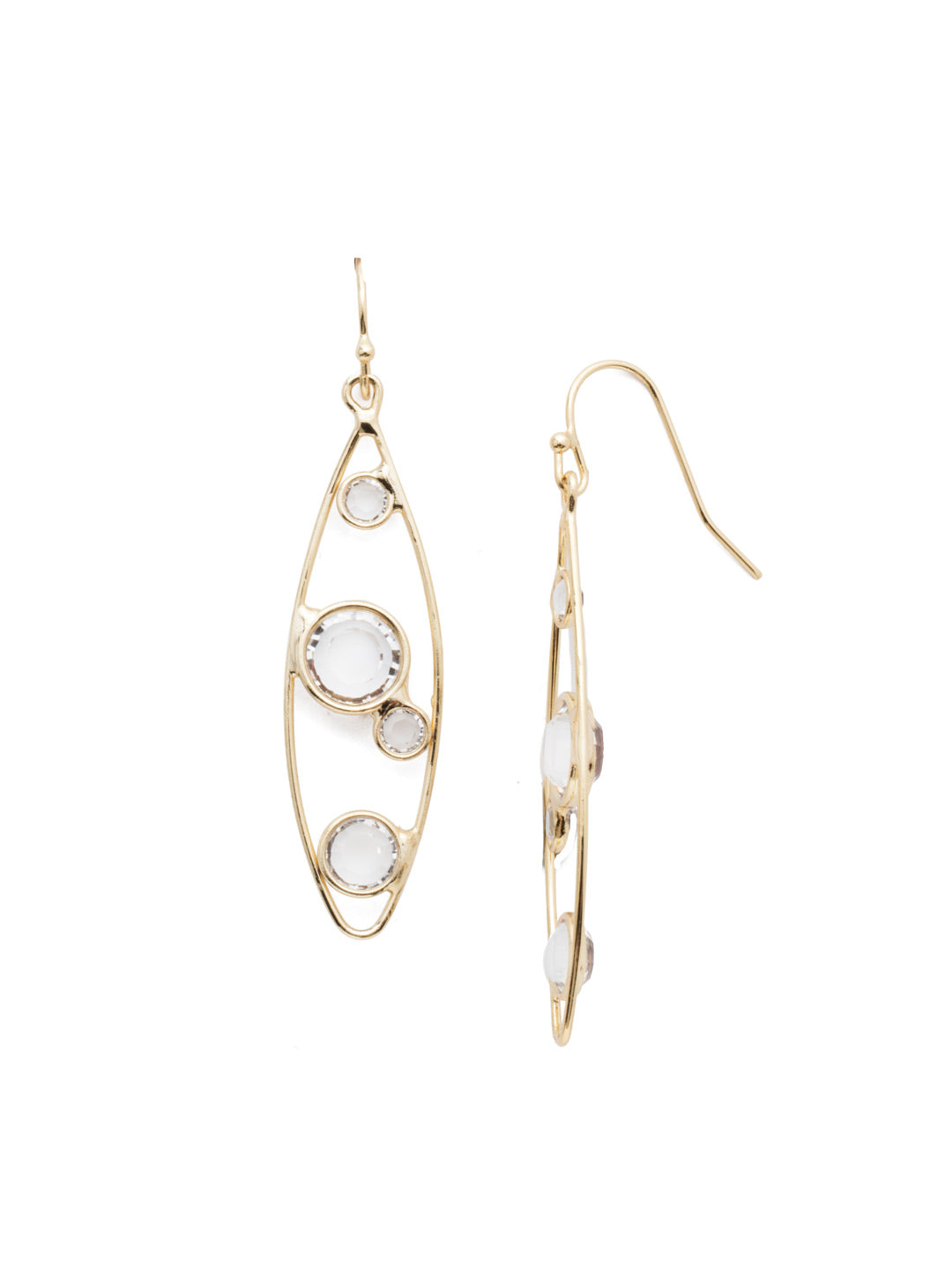 Nicola Dangle Earrings - 4EEN10BGCRY
