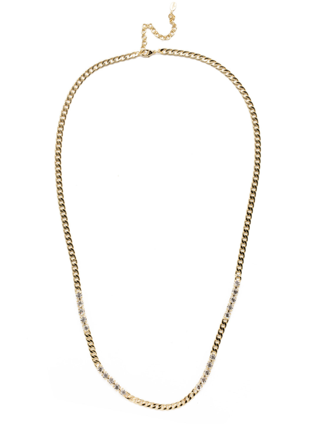 Alaia Crystal Long Necklace - 4NEK16BGCRY