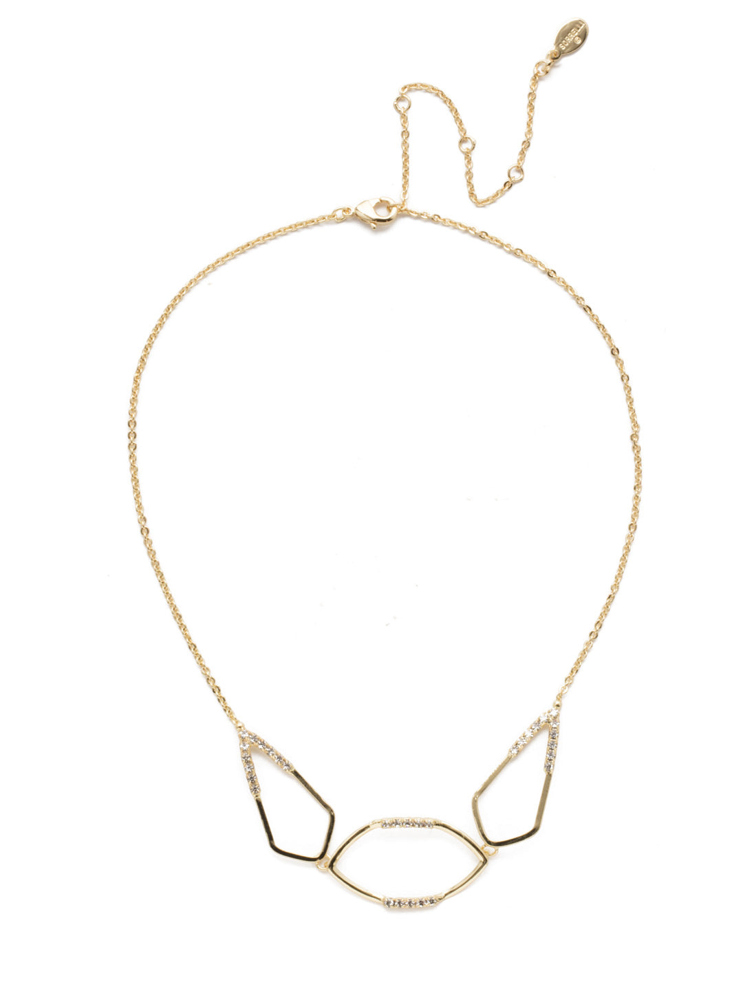 Amenia Offset Statement Necklace - 4NEK23BGCRY