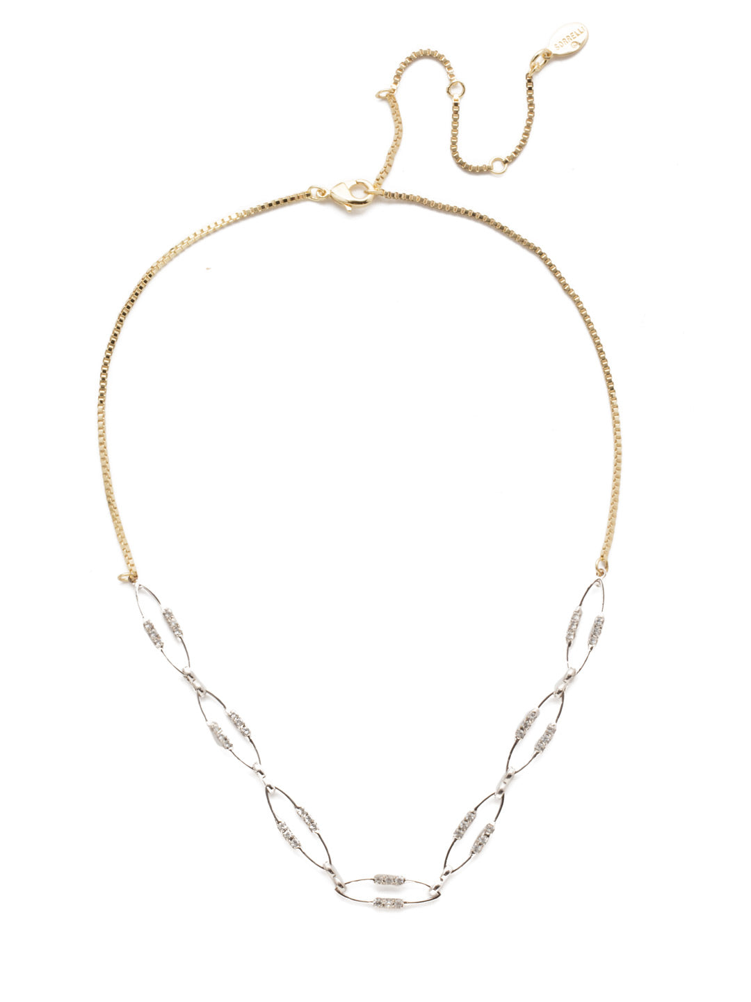 Iliana Elipse Crystal Tennis Necklace - 4NEK25MXCRY