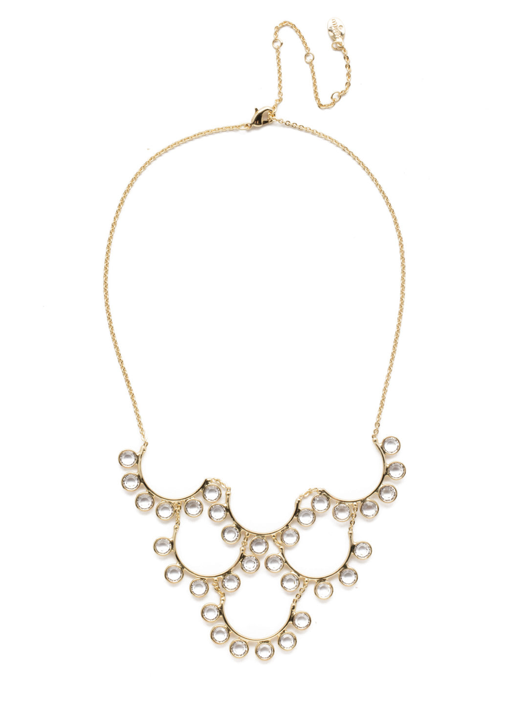 Esmerelda Crystal Statement Necklace - 4NEK31BGCRY