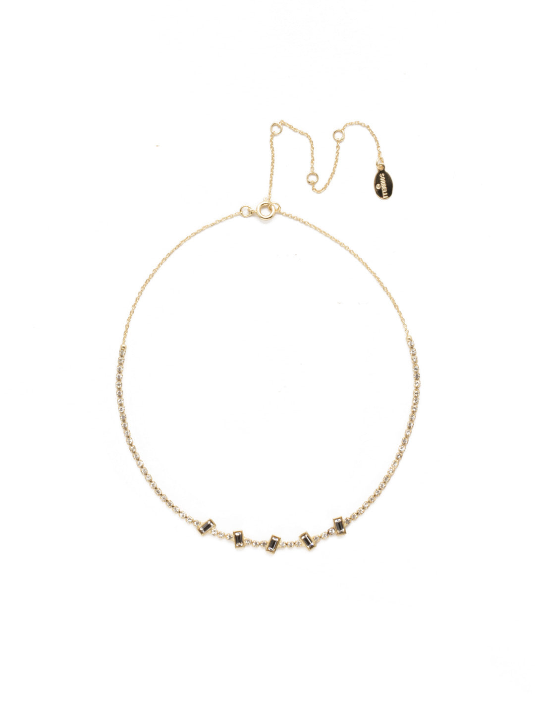 Circadian Crystal Tennis Necklace - 4NEK39BGCRY