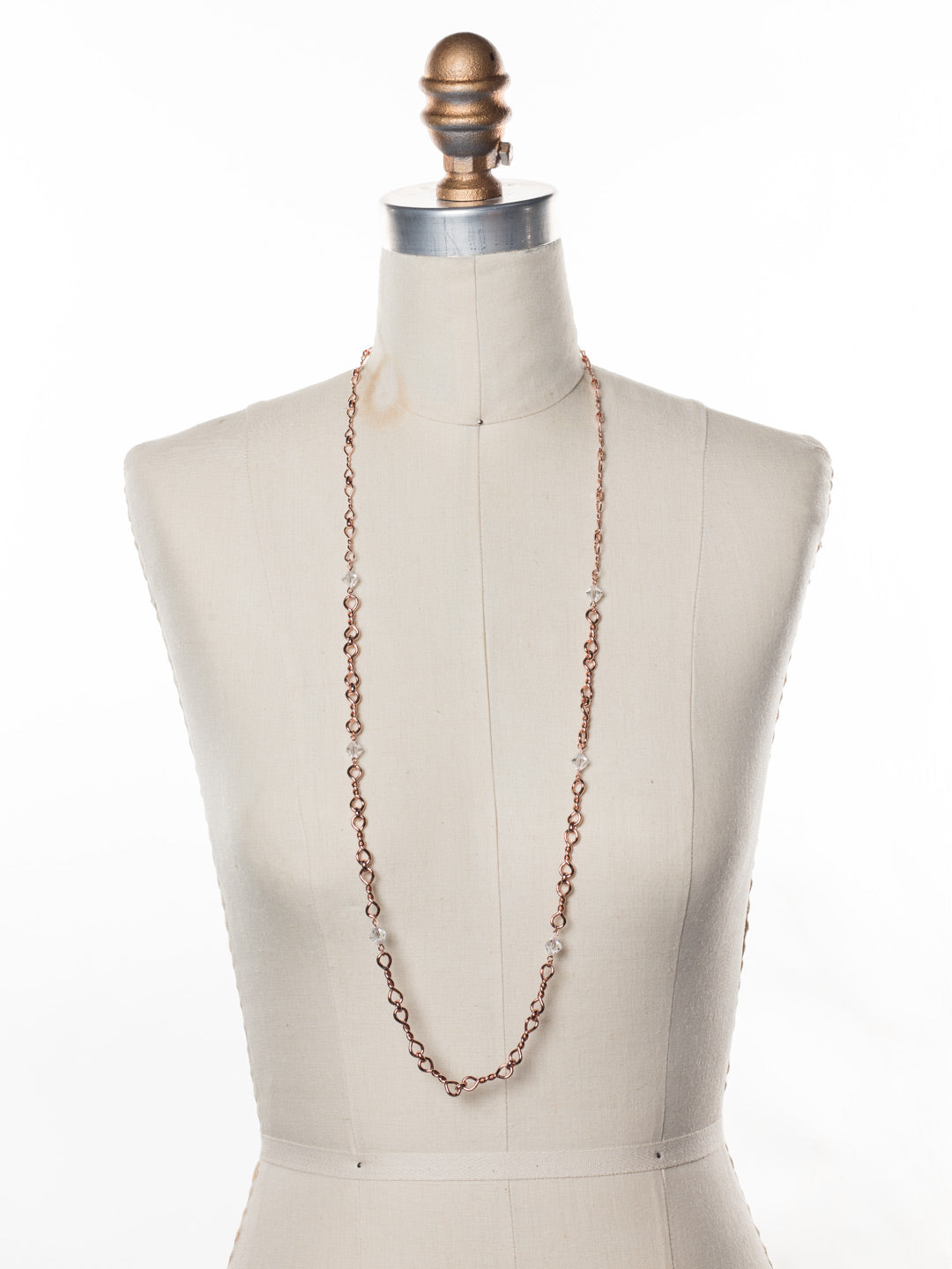 Ambretta Long Necklace - 4NES15RGCRY