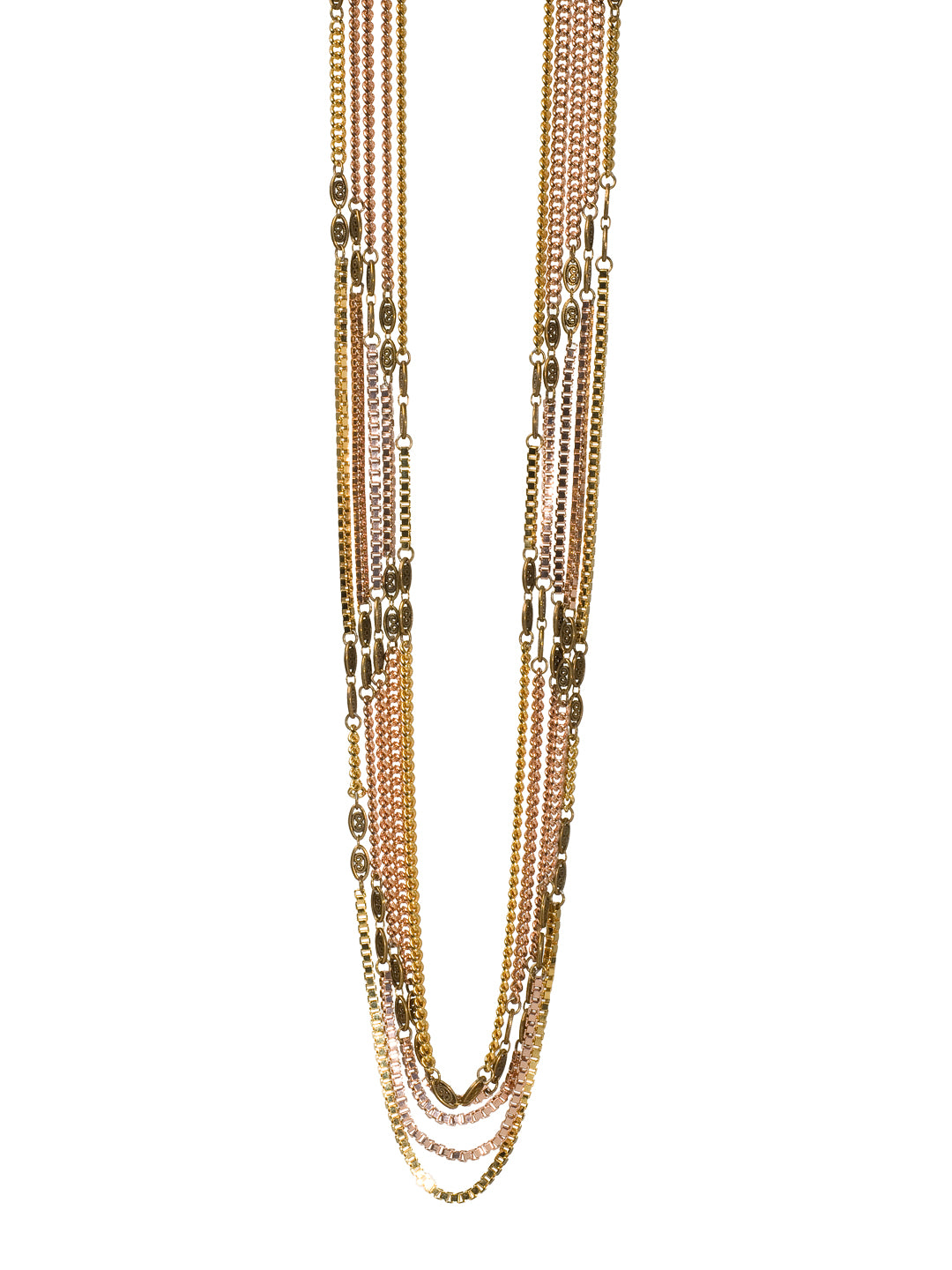 Everyday Metal Chain Long Necklace - 4NG10MXEOS