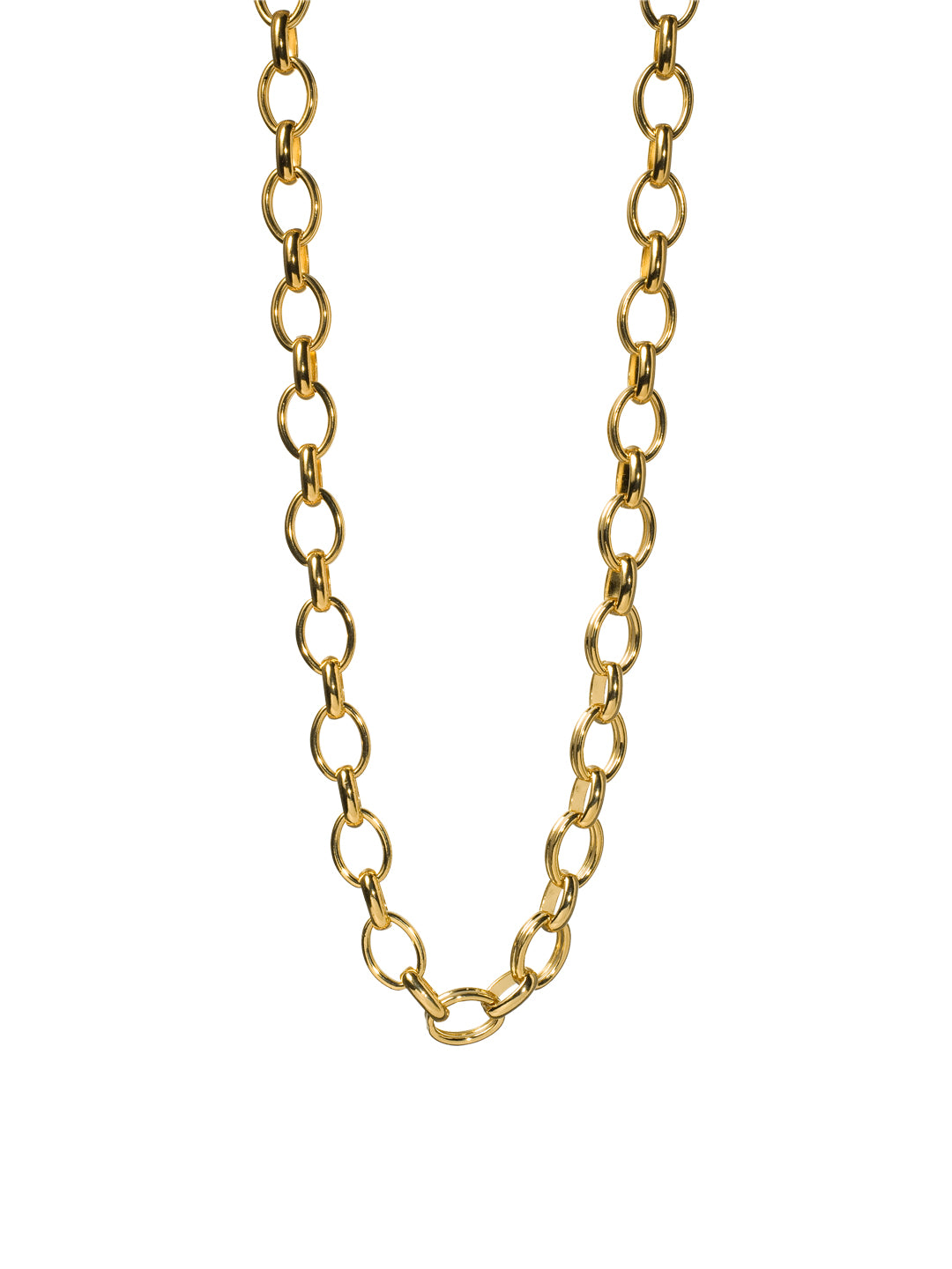 Large Link Chain Long Strand Necklace - 4NH20BGAZT