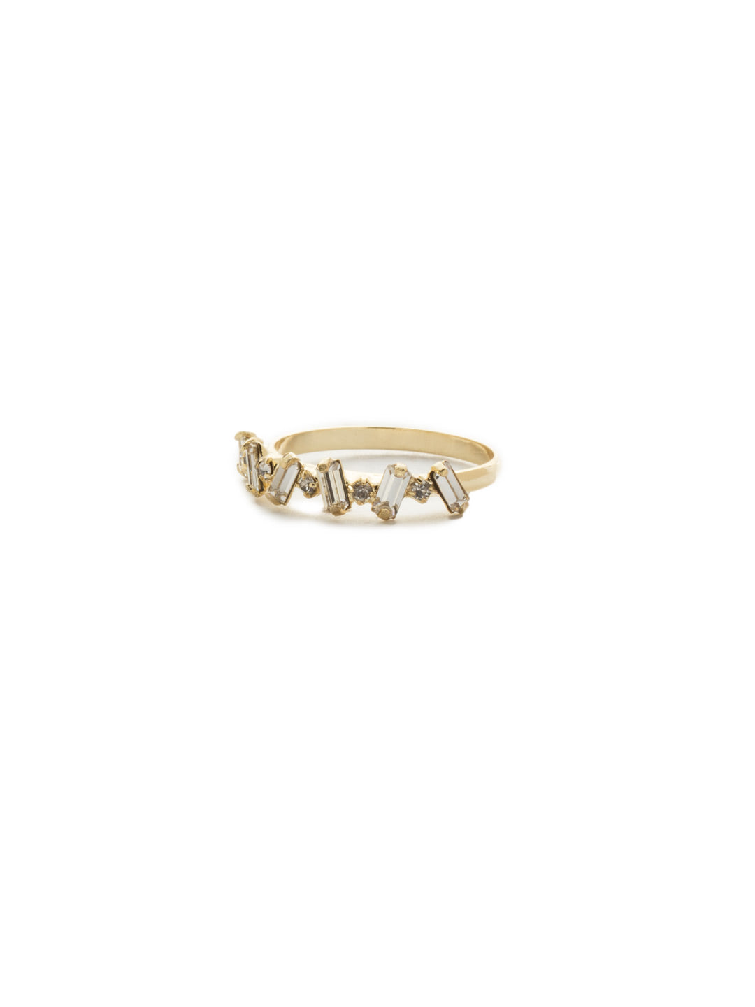 Radiantly Radial Crystal Band Ring - 4REK38BGCRY