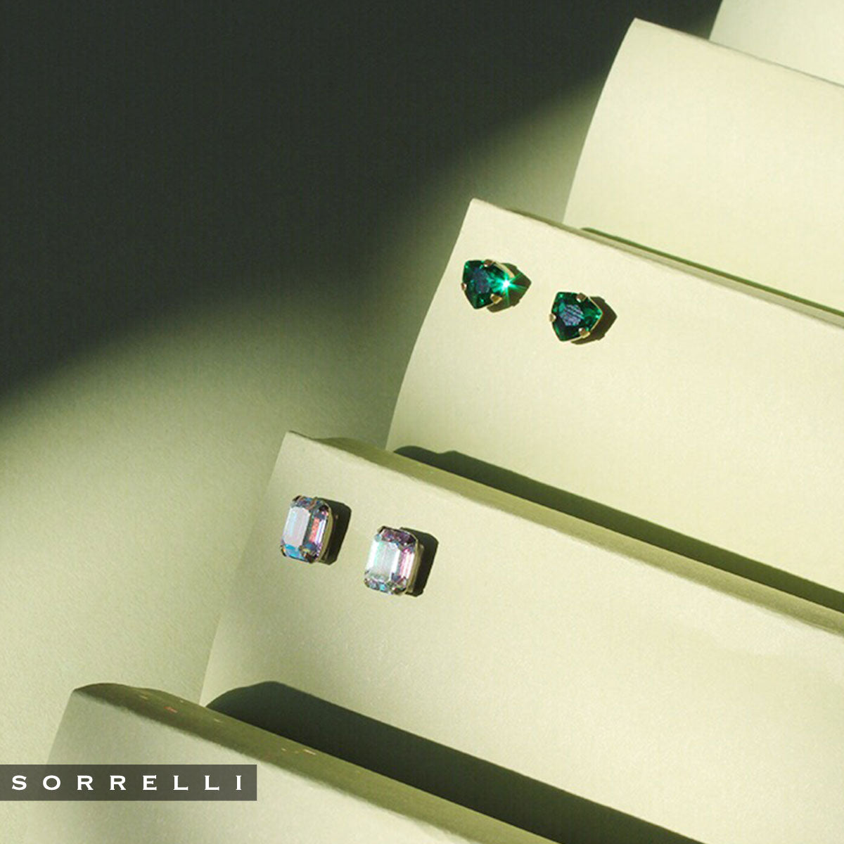 Mini Emerald Cut Stud Earring - Sorrelli Essentials - EBY42ASGLC
