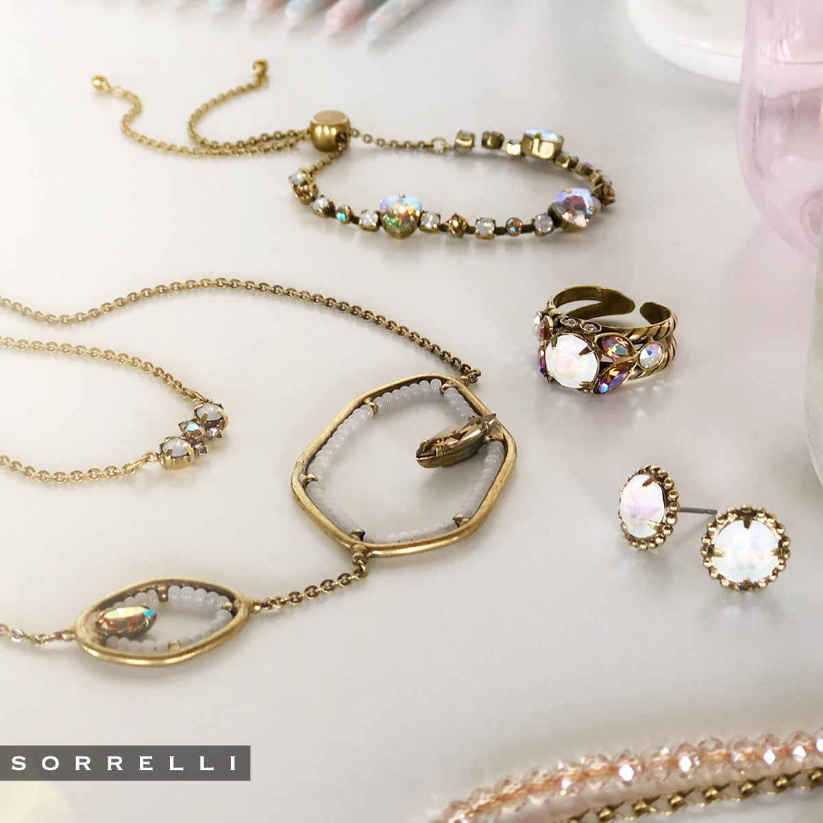 Aphelia Statement Necklace - NEK16AGROB