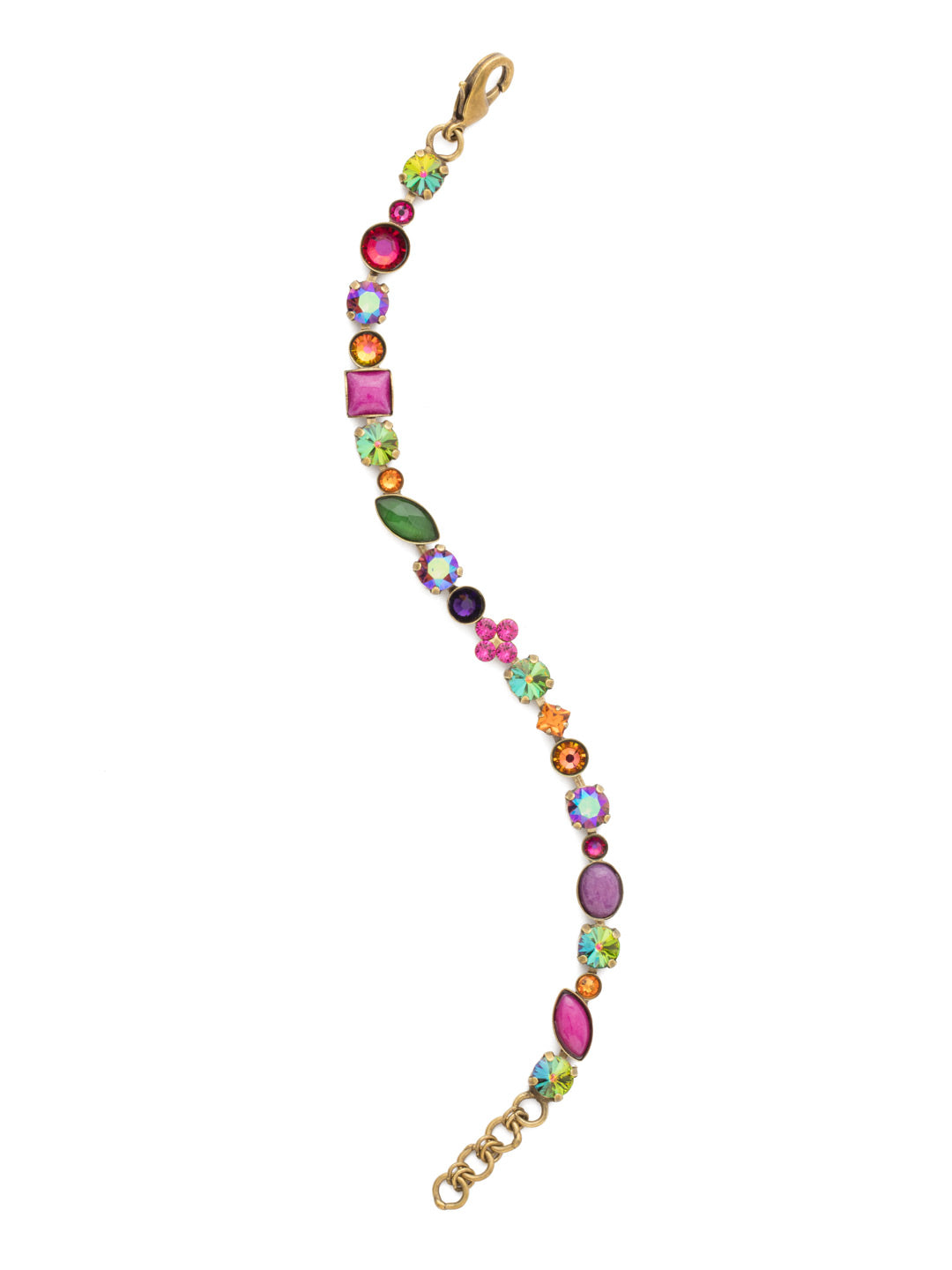 Crystal and Cabochon Tennis Bracelet - BAQ3AGVO