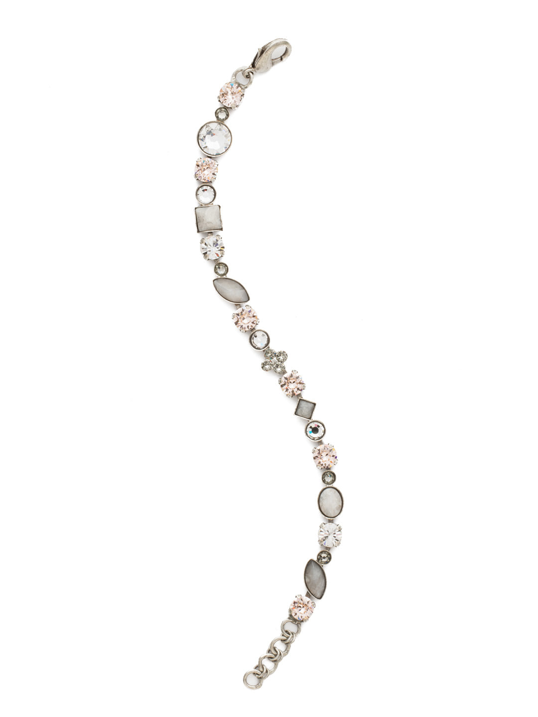 Crystal and Cabochon Tennis Bracelet - BAQ3ASSNB