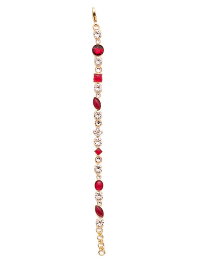 Crystal and Cabochon Tennis Bracelet - BAQ3BGSRC