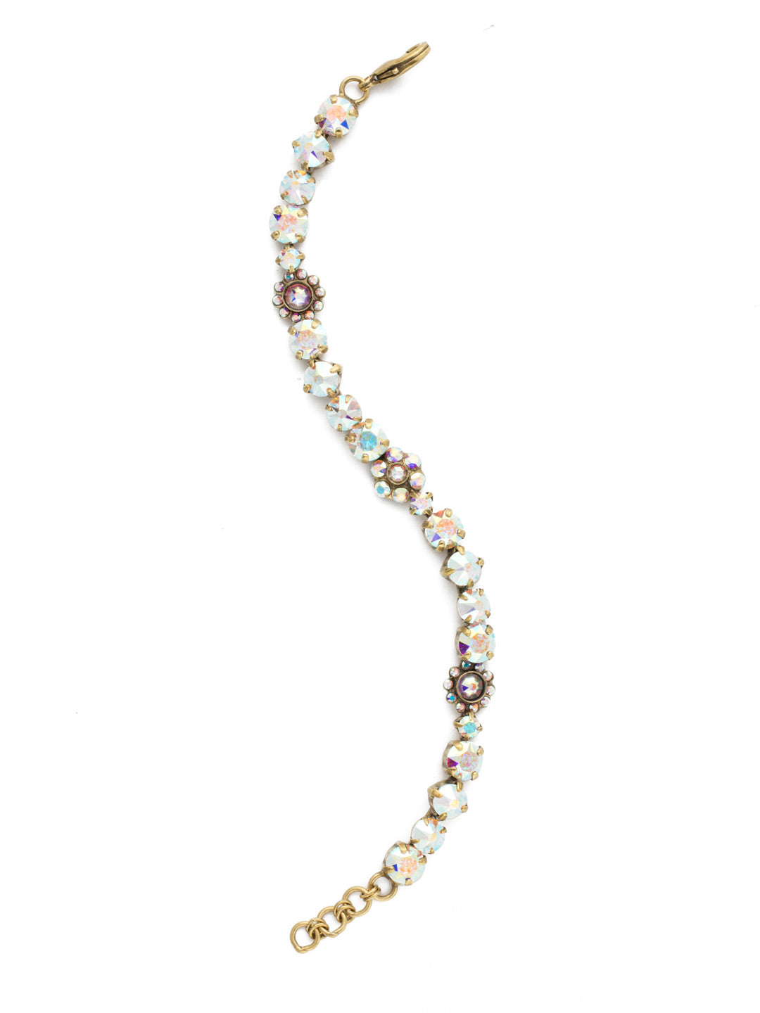 Classic Floral Tennis Bracelet - BBE2AGSNF