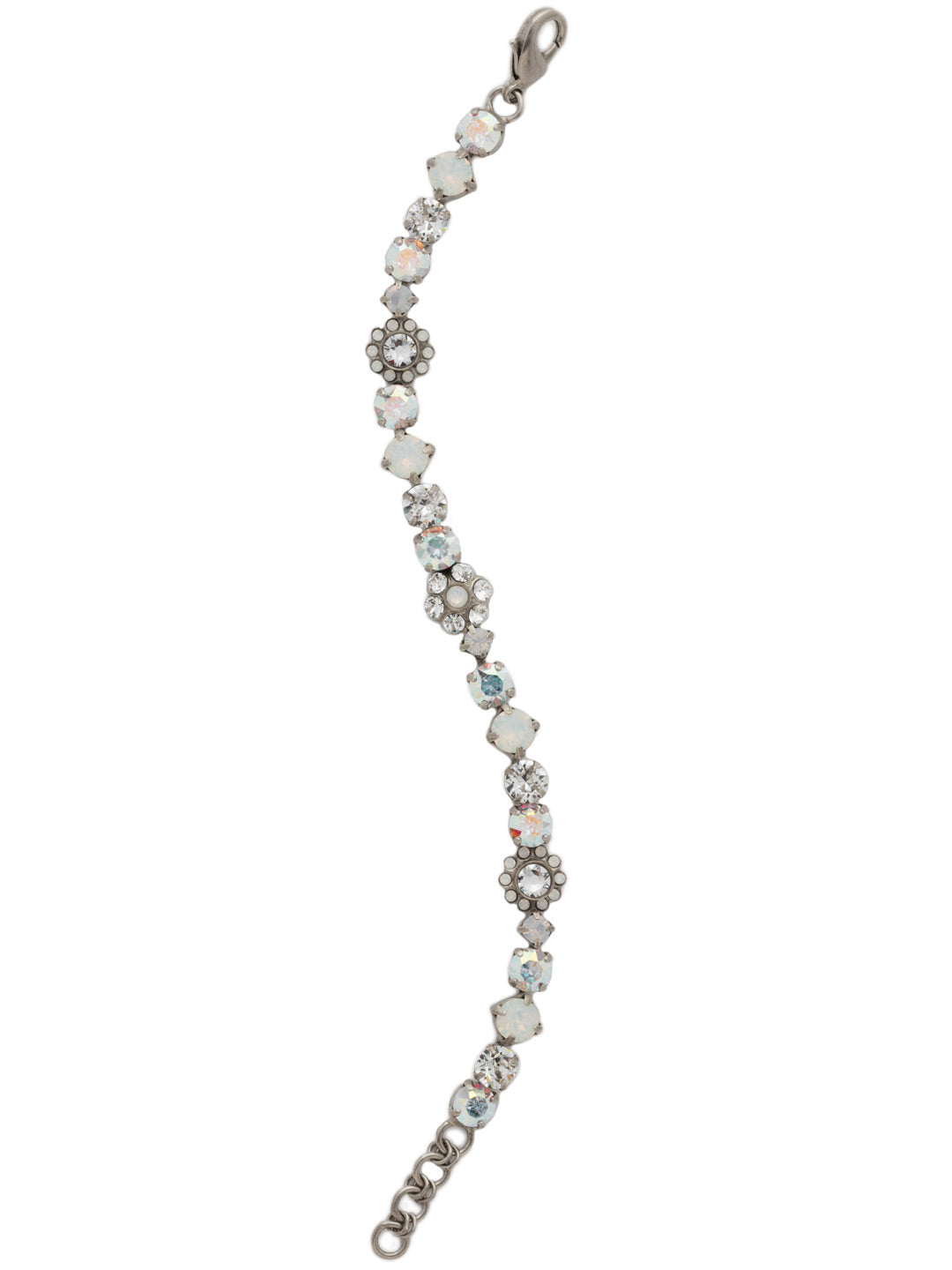 Classic Crystal Floral Bracelet - BBE2ASWBR