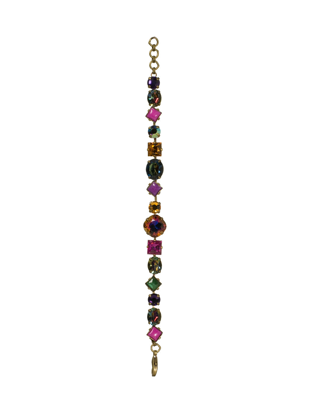 Bold Multi Shaped Crystal Bracelet - BBP3AGVO