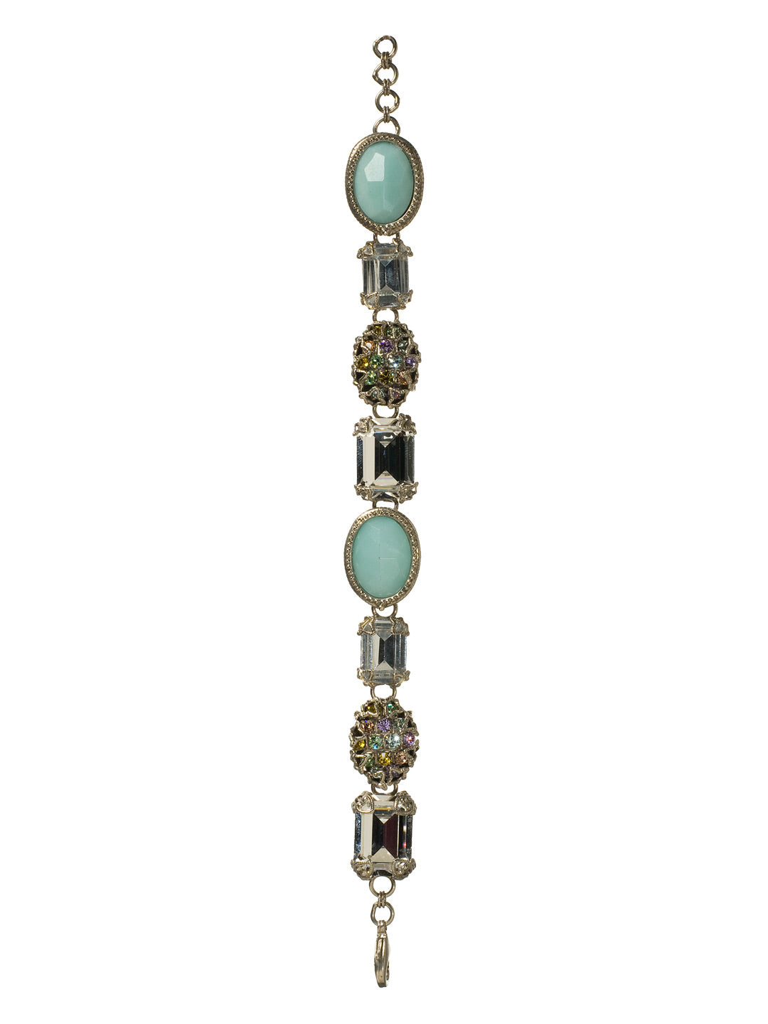 Bold Emerald and Oval-Cut Crystal Bracelet - BCF1ASRW