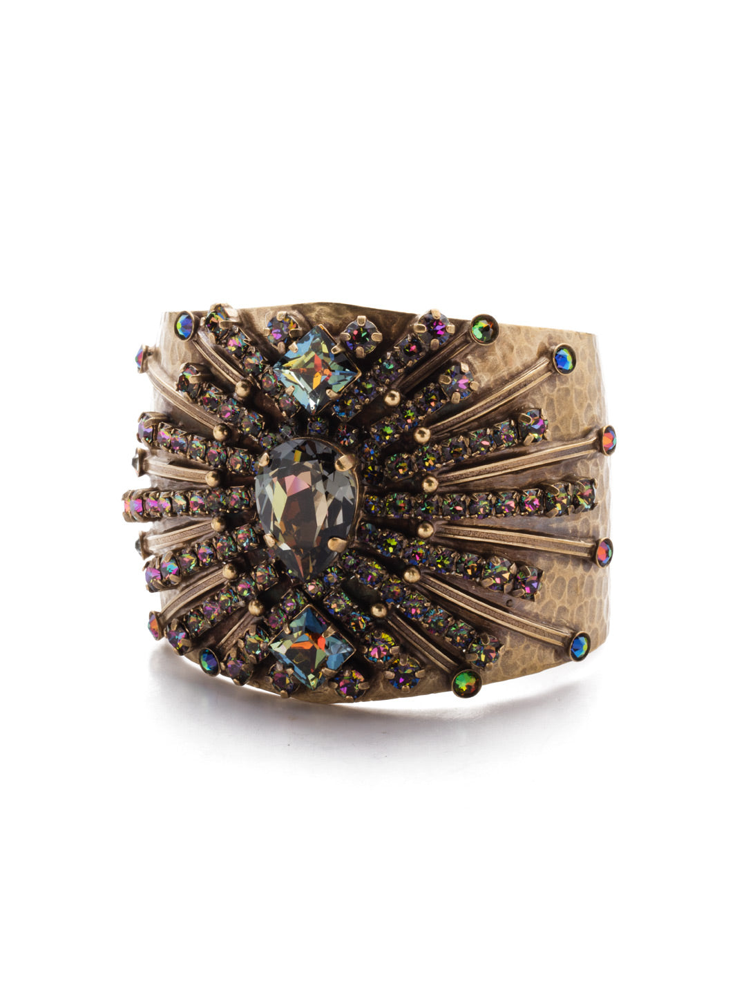 Sparkling Spectacle Cuff Bracelet - BCQ15AGVO
