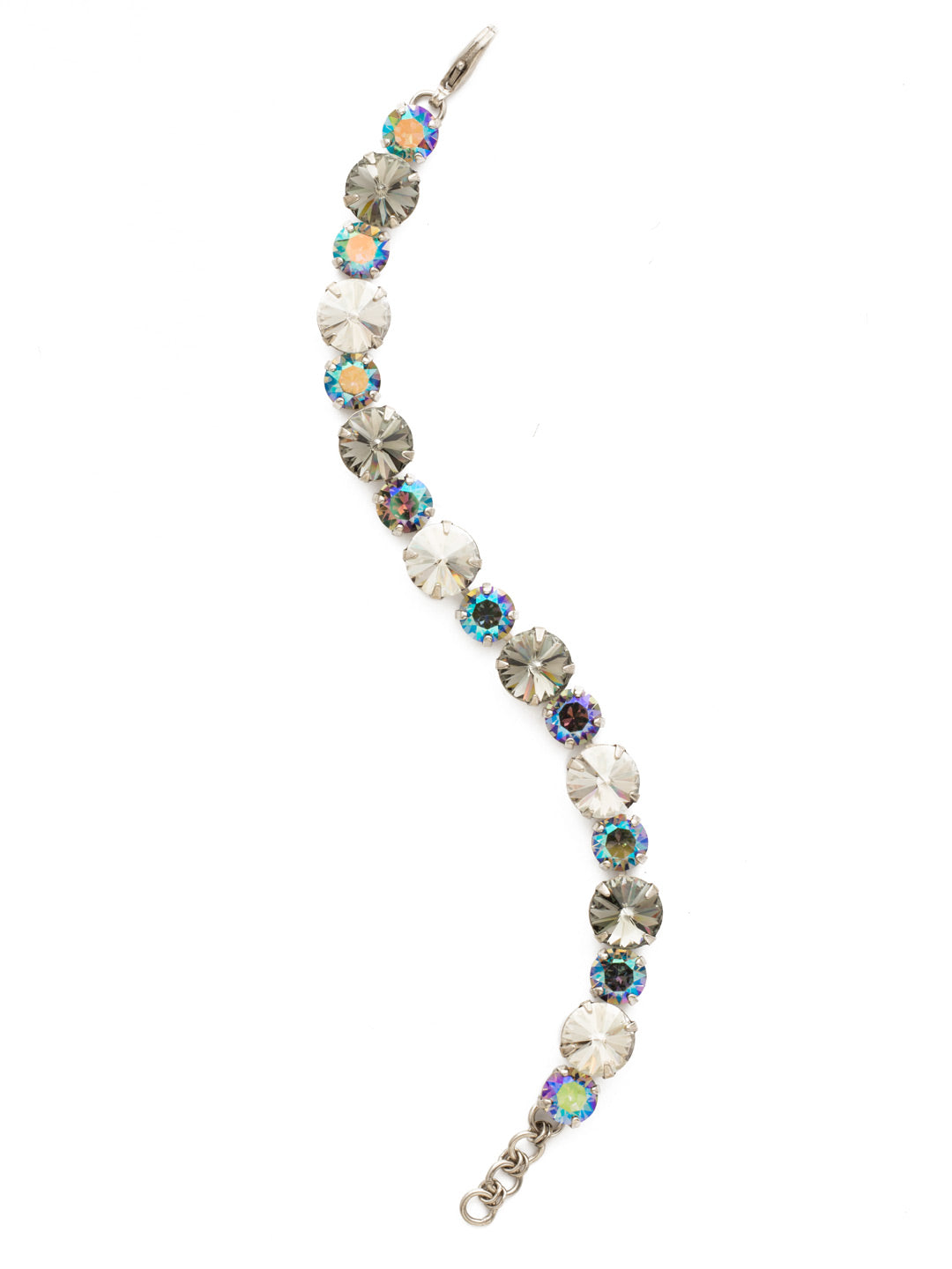 Round Cut Crystal Line Bracelet - BCR18ASCRO