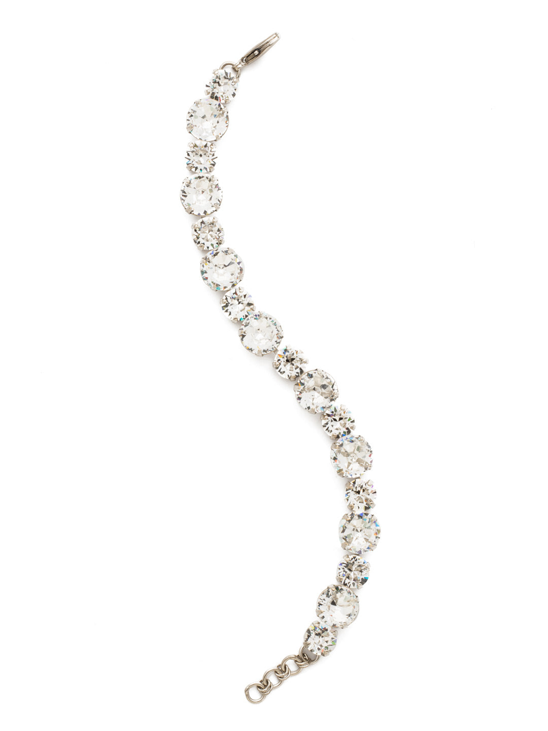 Round Cut Crystal Line Bracelet - BCR18ASCRY