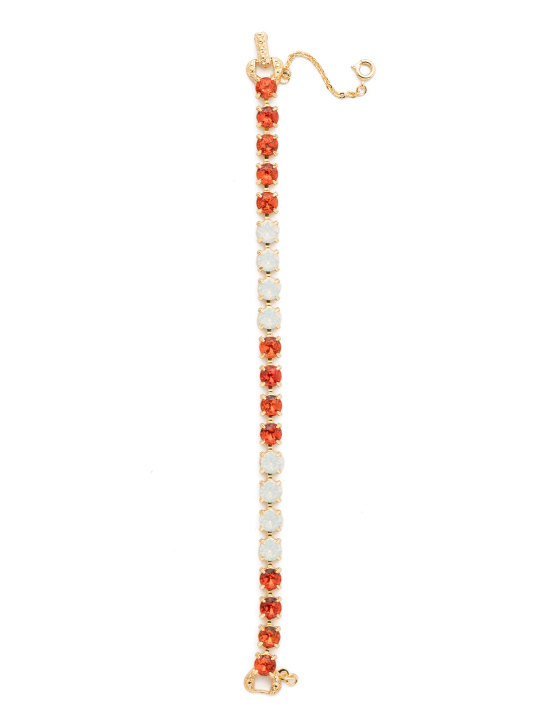 Repeating Round Tennis Bracelet - BCZ36BGOCH