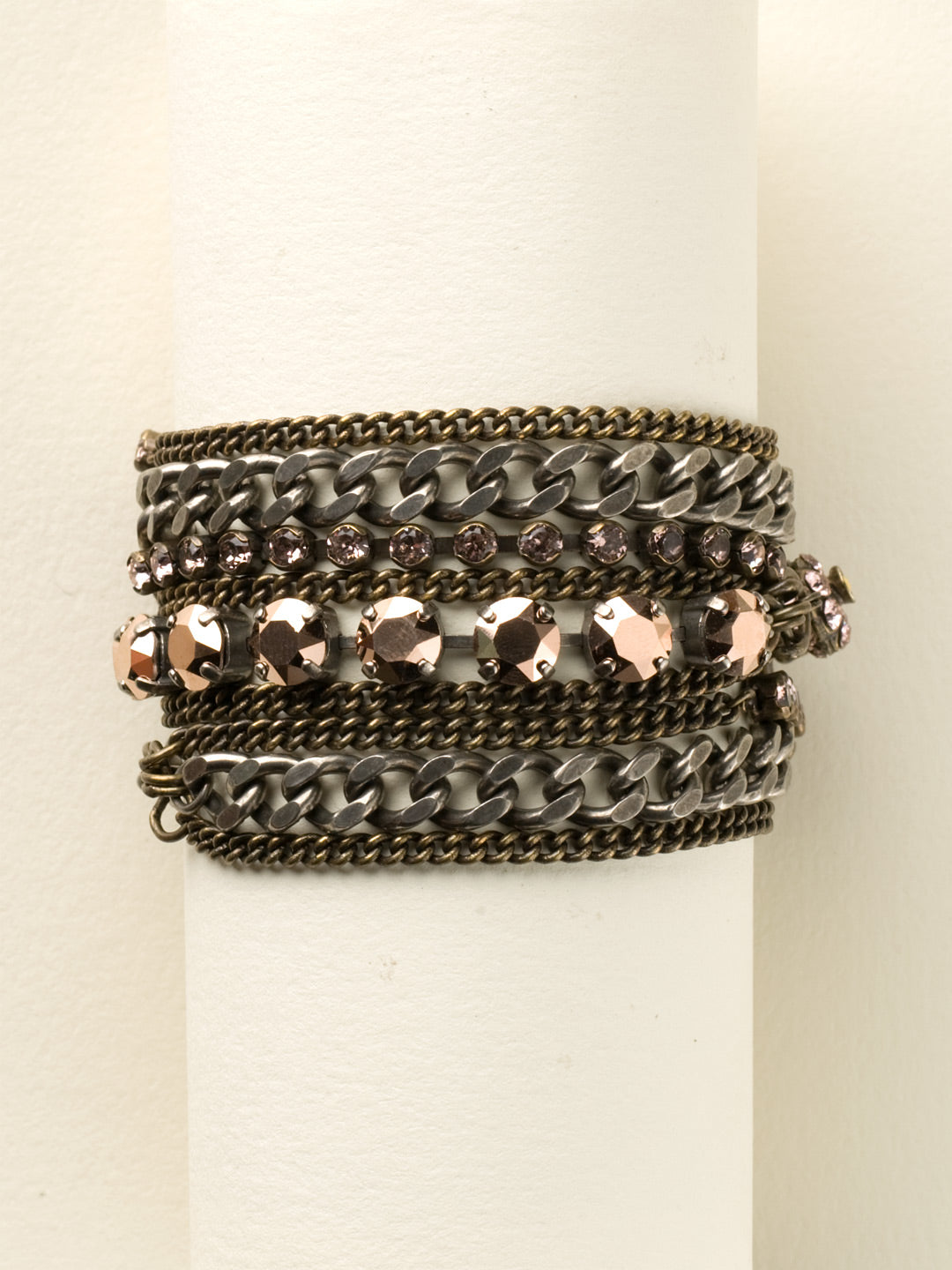 Mixed Metal and Crystal Layered Bracelet - BDD7MXRG