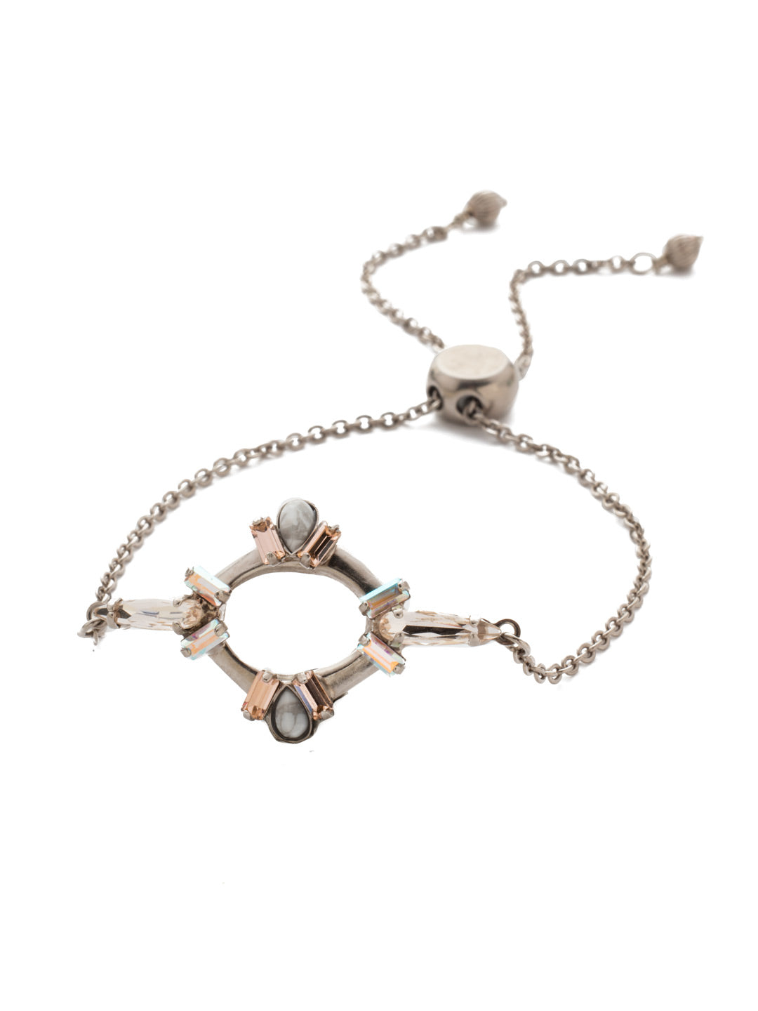 Nevaeh Adjustable Slider Bracelet - BEA23ASSCL