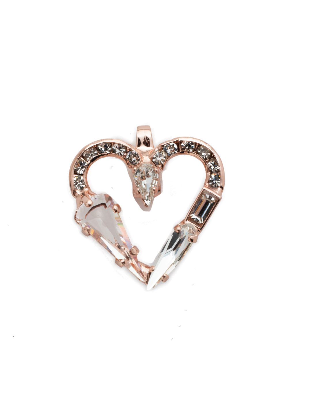 Crystal Heart Charm Charm Other Accessory - CES40RGCRY