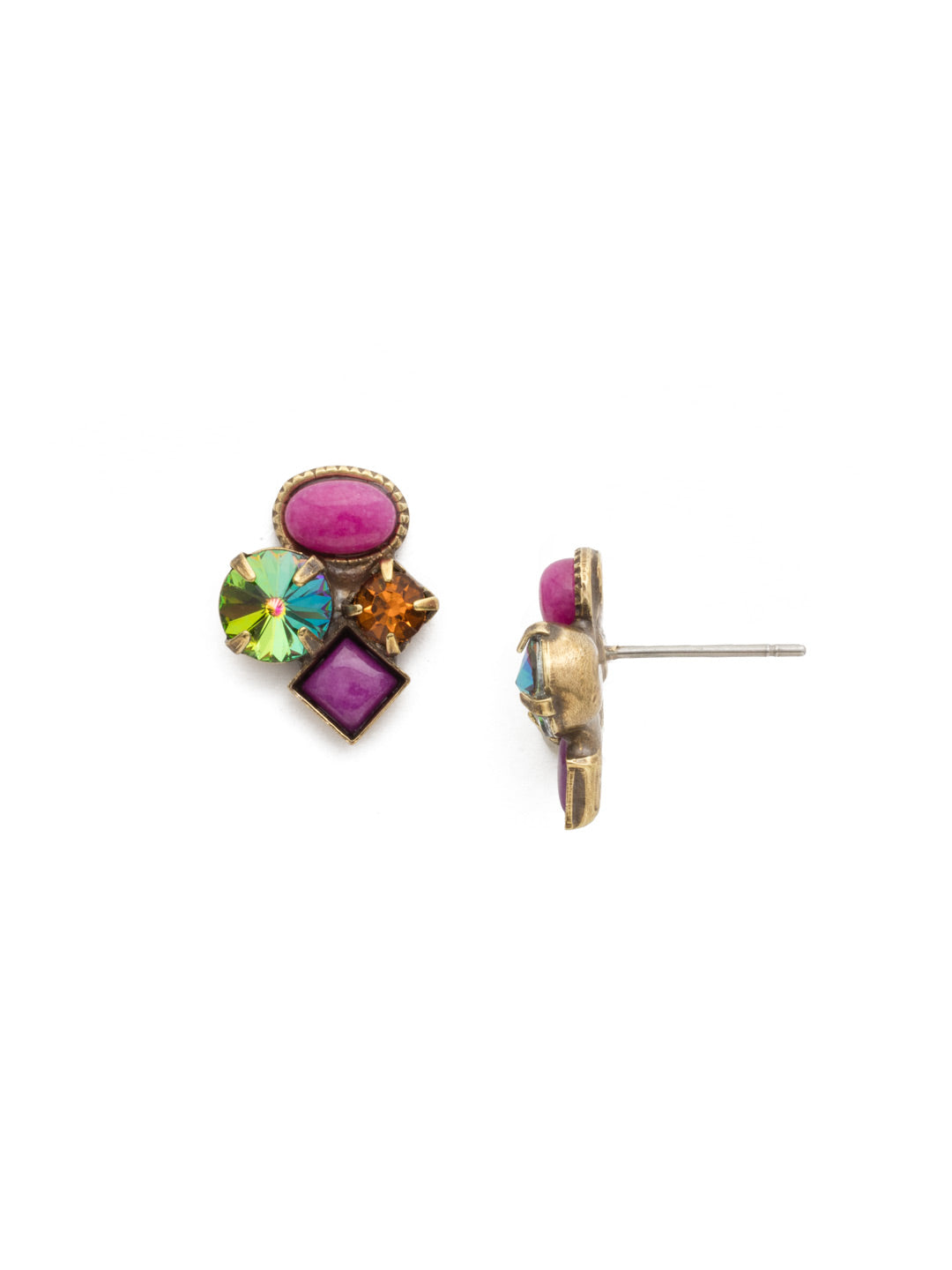 Small Cluster Stud Earrings - EAT32AGVO