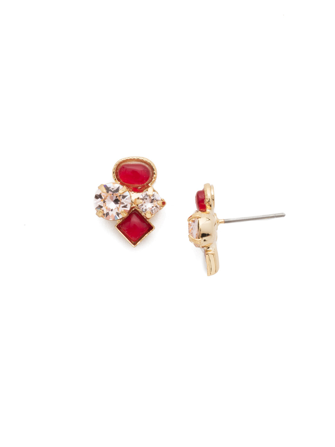 Small Cluster Stud Earrings - EAT32BGSRC