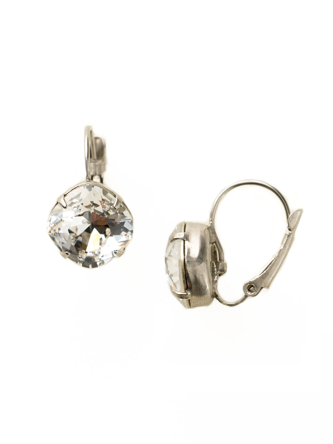 Single Drop Crystal Earring - EBA12ASCRY