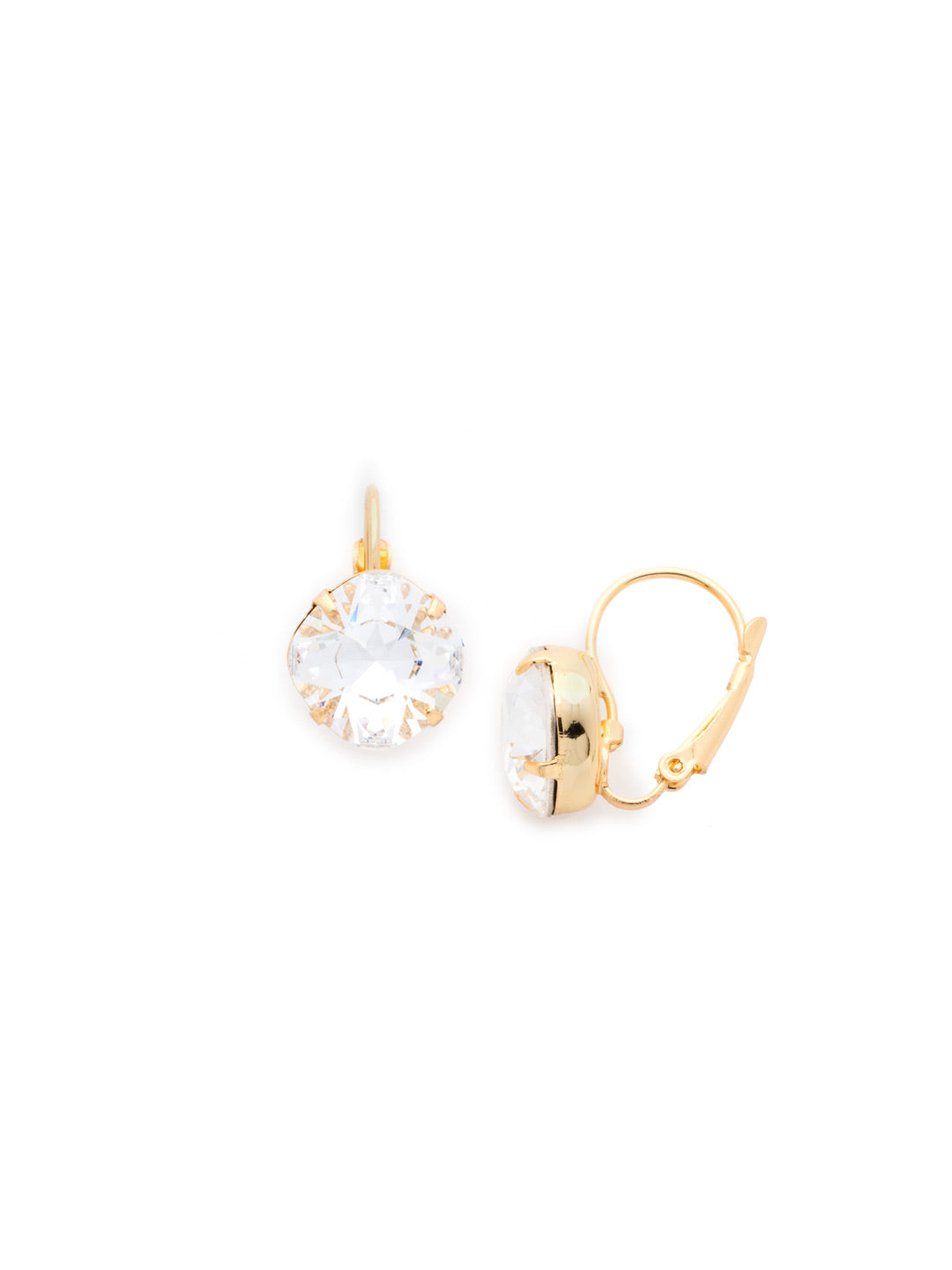 Single Drop Crystal Earring - EBA12BGCRY