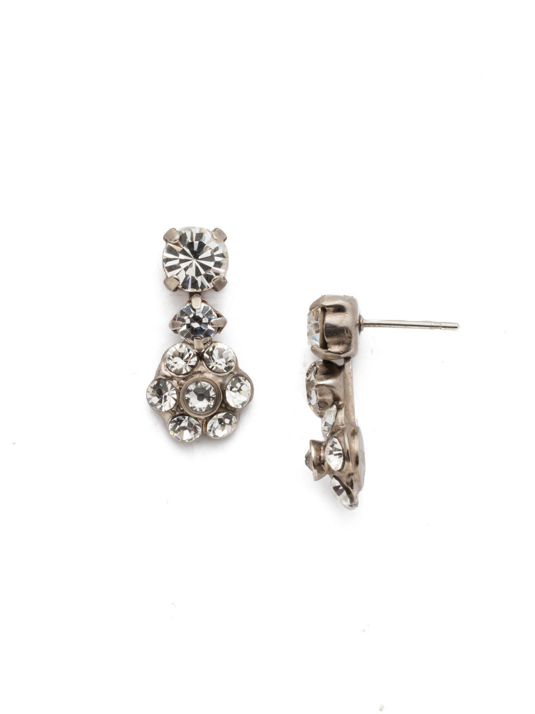 Flower Drop Dangle Earrings - EBE2ASCRY