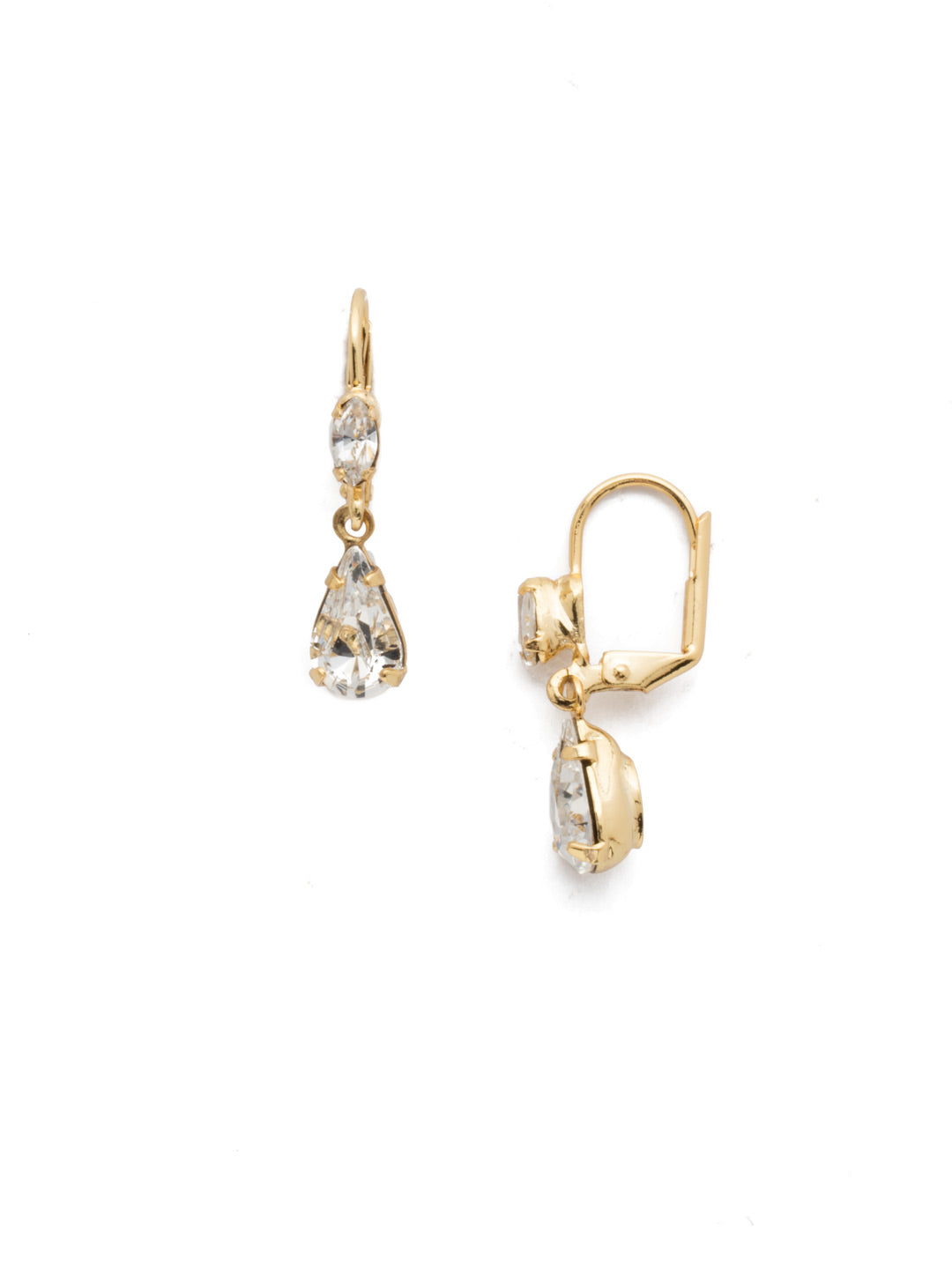 Teardrop Dangle Earrings - EBF20BGCRY