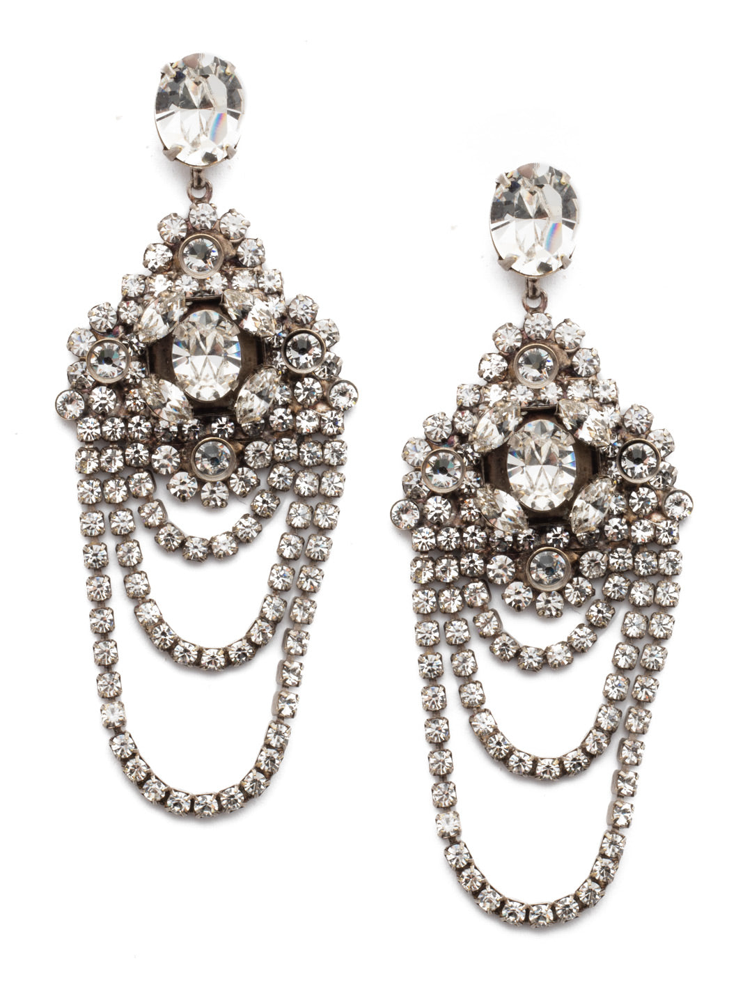 Crystal Chandelier Earrings Statement Earring - EBP49ASCRY