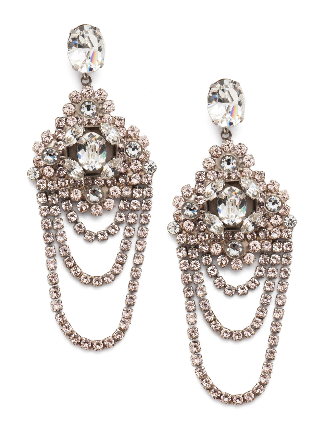 Crystal Chandelier Earrings Statement Earring - EBP49ASSBL