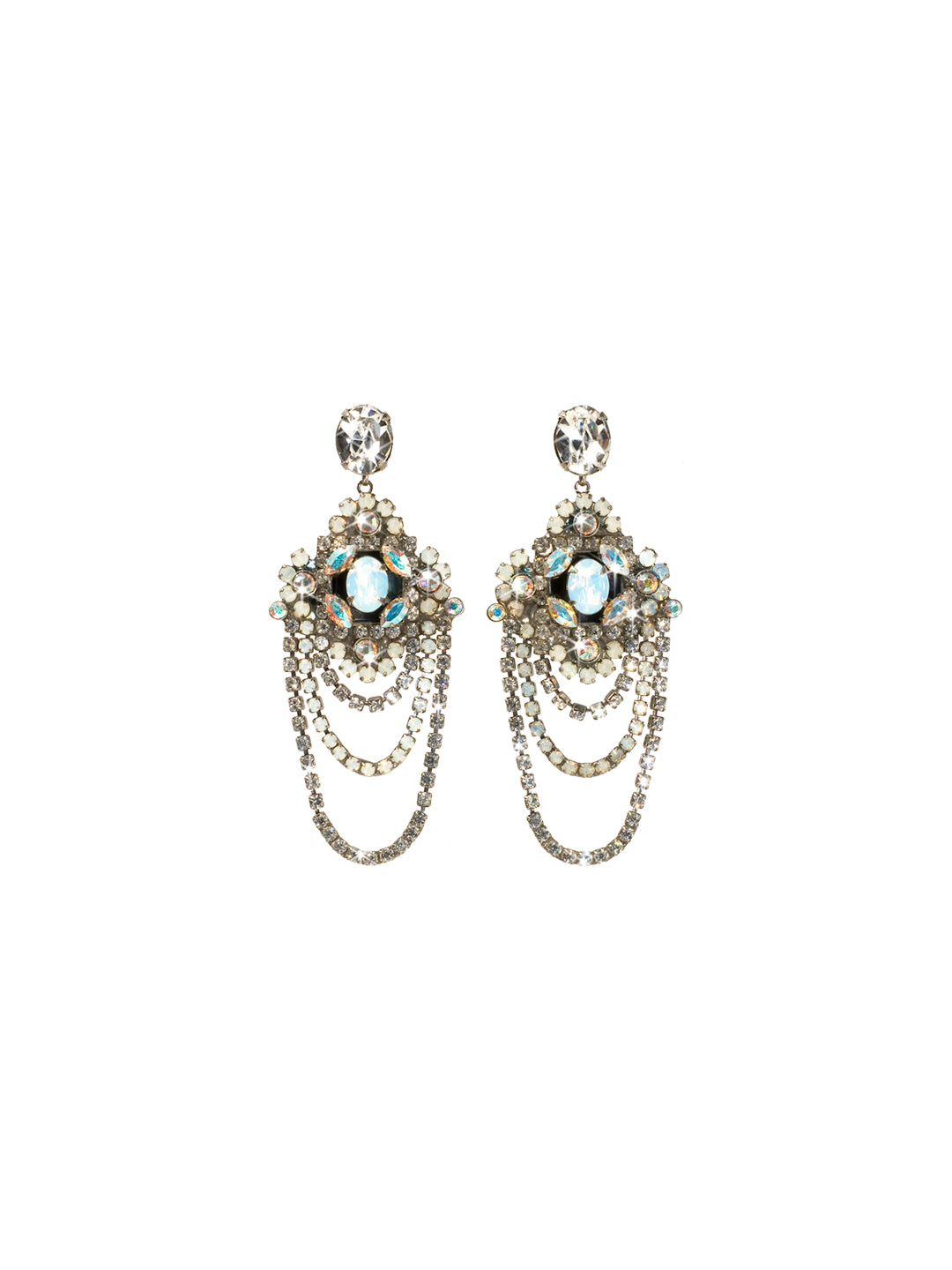 Crystal Chandelier Earrings Statement Earring - EBP49ASWBR